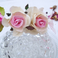 Pretty Rose Bridesmaids Headband  Cream & Pink