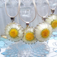 Bridesmaids set of 4 Real  Daisy Necklace's