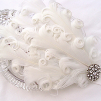 Stunning Snow White Feather Headband