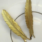 Vintage Brass Feathers Set of Two