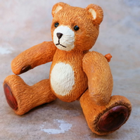 LC - Fine plaster Teddy Bear - Collectable - Gift
