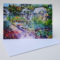 'Nev's Paradise'-Blank Greetings Card