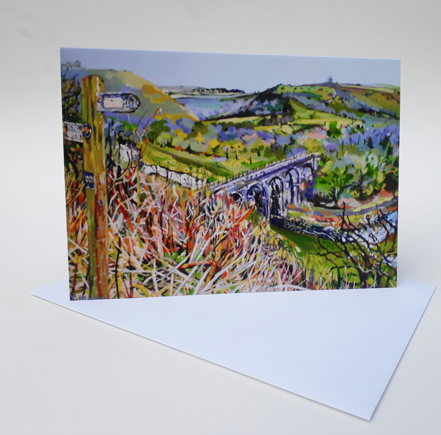 'Looking Down' - Blank Greetings Card