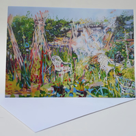'Smoke' Blank Greetings Card