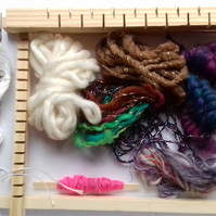Mini Weaving Kit  - hand spun art yarn