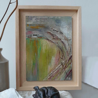 Through the Reeds – original framed painting in acrylics
