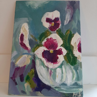 Pansy small flower painting