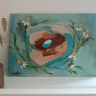 Flower nest painting