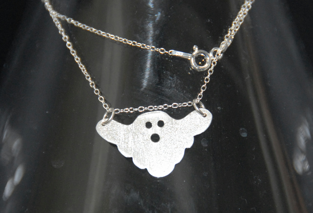 Sterling Silver Ghost Pendant