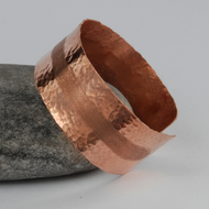 skinny textured copper cuff