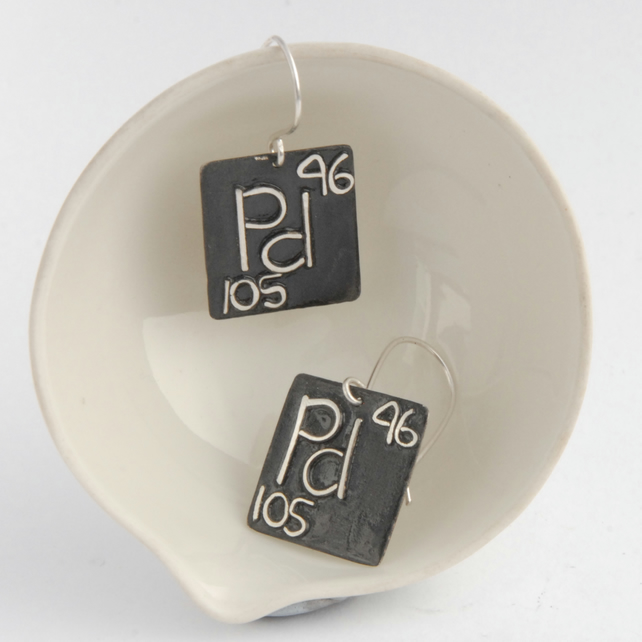 Sterling silver chemical element earrings - made to order choose your elements
