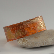 heat treated hammered copper cuff