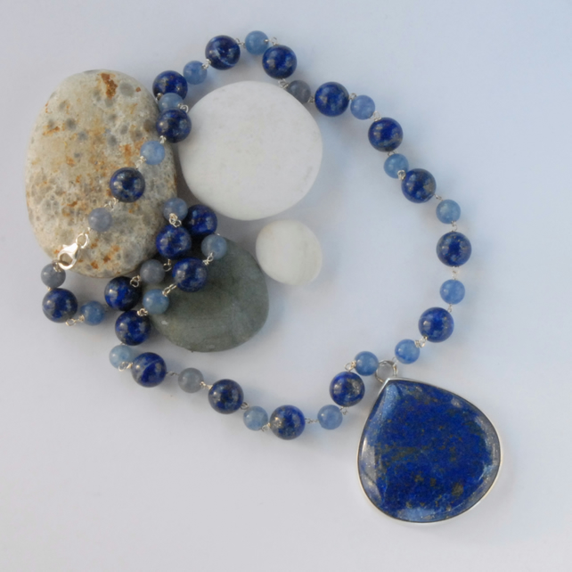 Bold Royal Blue Lapis Necklace