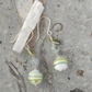 aquamarine and peridot murano glass and sterling silver earrings