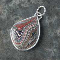 Ellesmere Port fordite and sterling silver pendant