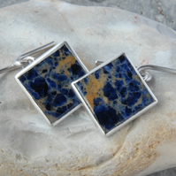 Sterling silver and blue sodalite cufflinks
