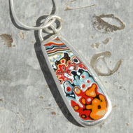 Dagenham fordite and sterling silver pendant