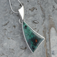 Sonoran Sunset Chrysocolla and sterling silver pendant