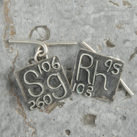 sterling silver 'element' cufflinks - made to order choose your elements!