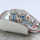 Small sparkly fordite silver swivel cufflinks
