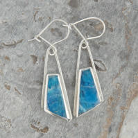 Apatite and sterling silver drop earrings