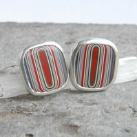 Dagenham fordite stud earrings