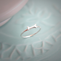 Sterling Silver Bone Stacking Ring