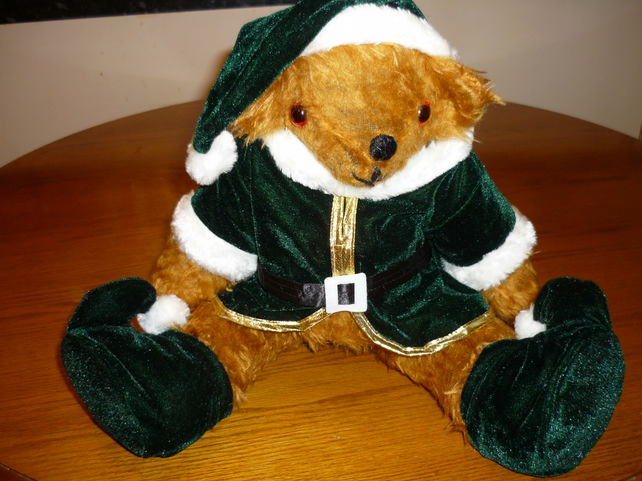 Christmas Elf Bear