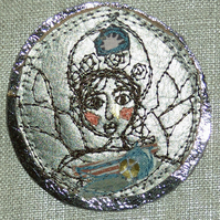 Alert Angel Brooch
