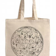 'Map of the Moon' Tote Bag