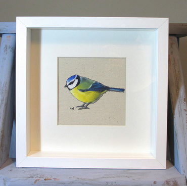Blue tit Painting - Framed and Mounted