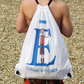 Personalised Alphabet Pirate Swimming Bag, Girls or Boys Drawstring Bag