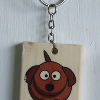 Dog and Bone Keyring
