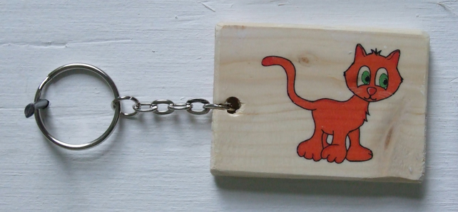 Ginger Cat Keyring