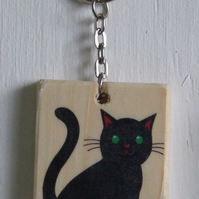 Black Cat Keyring