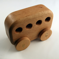 Wooden Toy Bus