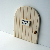 Cream coloured fairy door