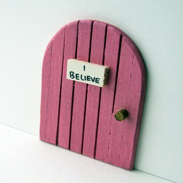 pink sparkle fairy door