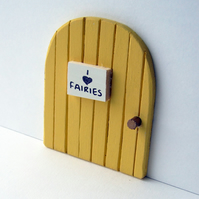 Yellow fairy door