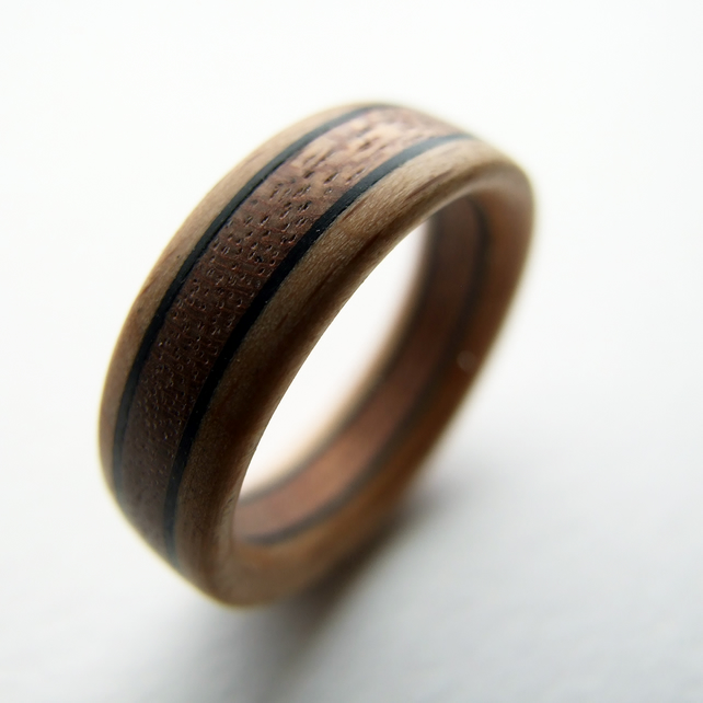 Ebano wooden ring