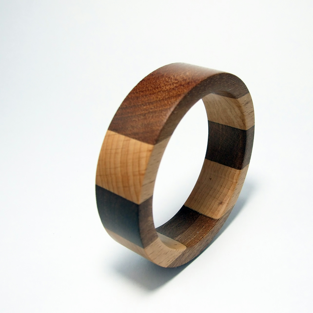 Meranti and Beech wooden Bangle