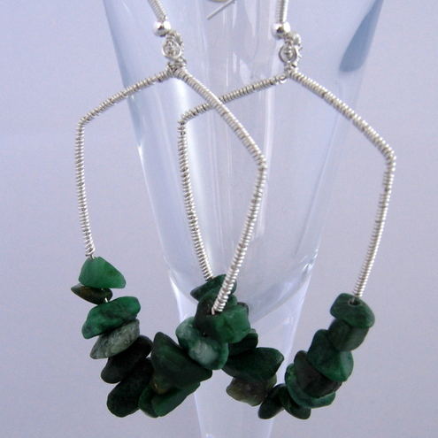 "Gemstone chip earrings "" Midori"""