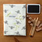 Bee Print Notebook Cover (with notebook)