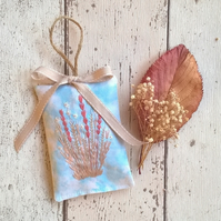 Hand Embroidered Lavender Bag