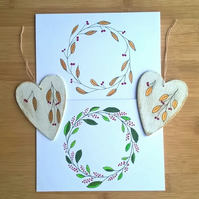 Hand-Painted Christmas Cards and Decorations Set