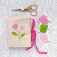 Embroidered Flowers Sewing Needle Case
