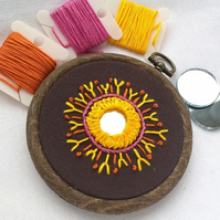Hoop Embroidery with Mirror