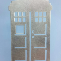 Pewter Police Box Hanging Decoration