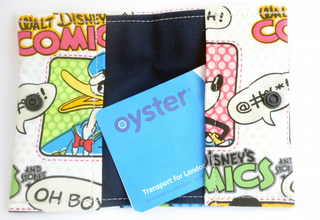 Comic Book Mickey Mouse Oyster Card Credit Card Holder