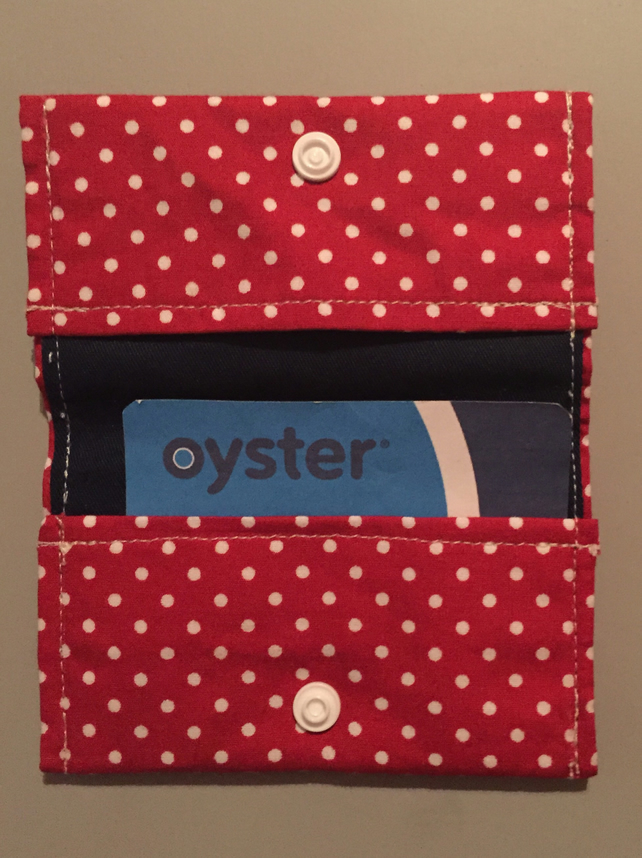 Red Polka Dots Oyster Card Credit Card Holder
